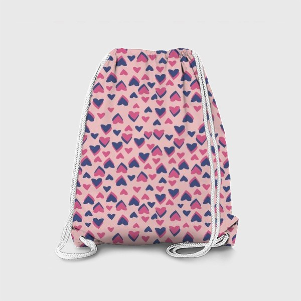 Рюкзак «Паттерн розовые сердца»