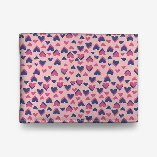 Кошелек «Паттерн розовые сердца»