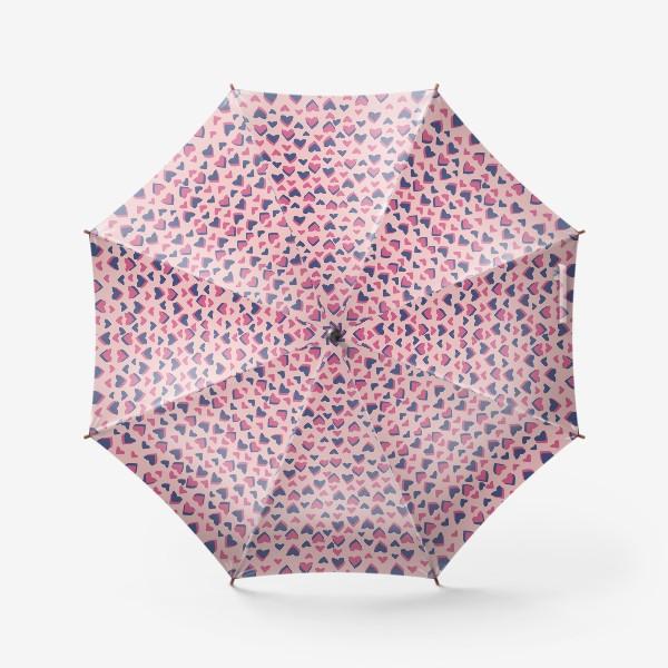 Зонт «Паттерн розовые сердца»