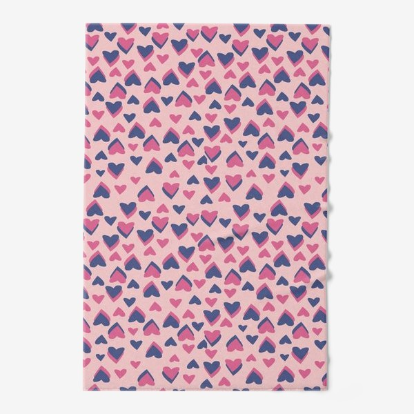 Полотенце «Паттерн розовые сердца»