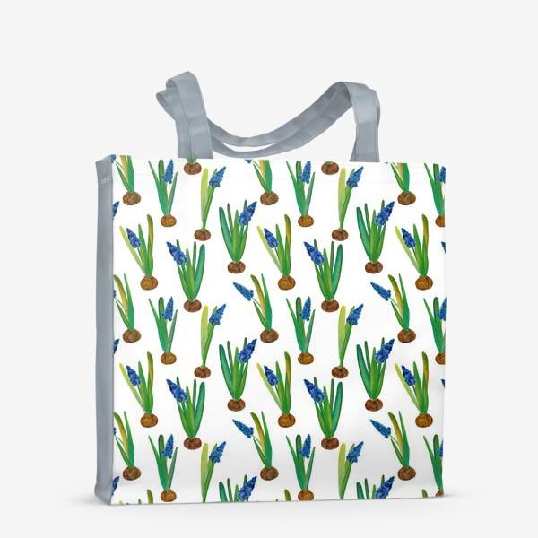 Сумка-шоппер «Паттерн весенние мускари с луковичками»