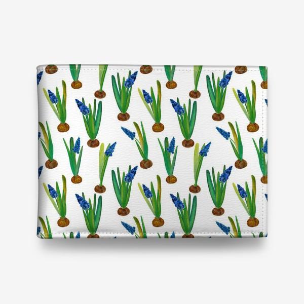 Кошелек «Паттерн весенние мускари с луковичками»