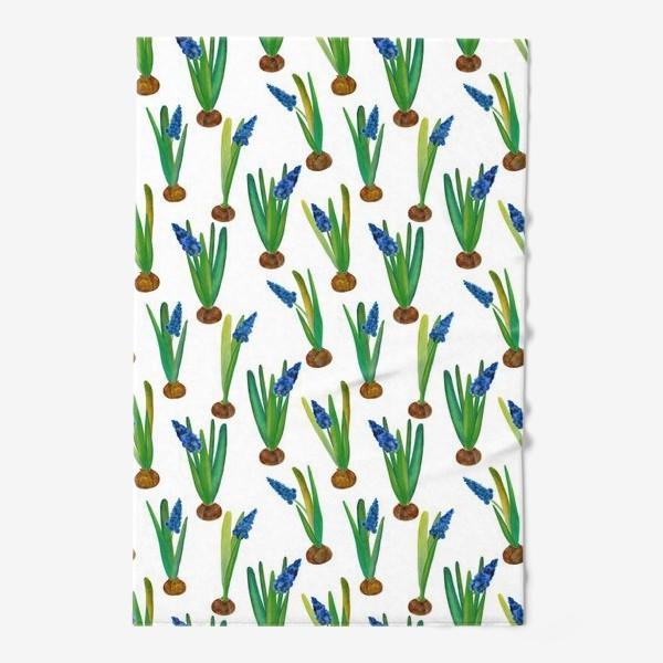 Полотенце «Паттерн весенние мускари с луковичками»