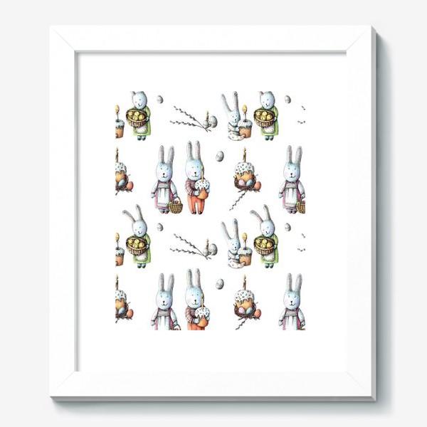 Картина «Пасхальный узор с зайчиками»