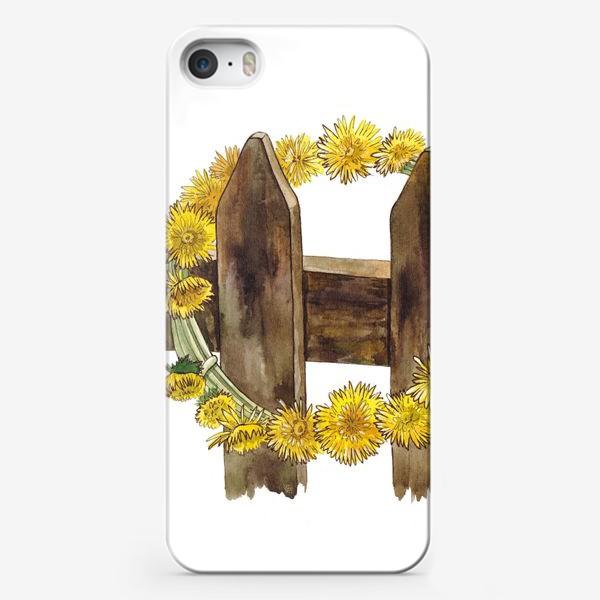 Чехол iPhone «Желтые одуванчики (Венок)»