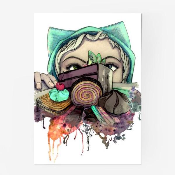 Постер «Девушка и сладости. Диета»