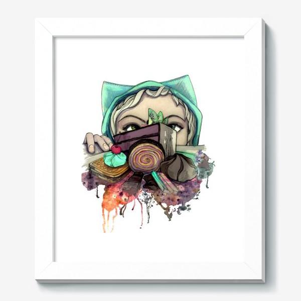 Картина «Девушка и сладости. Диета»