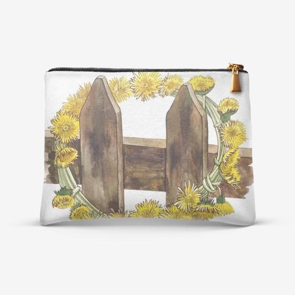 Косметичка «Желтые одуванчики (Венок)»