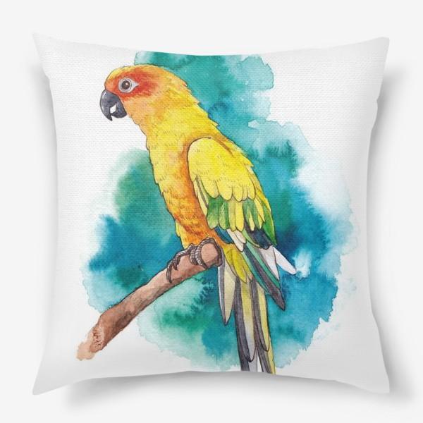 Подушка «Птица Желтый Попугай»