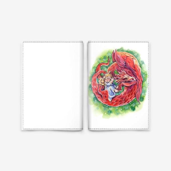 Обложка для паспорта «Принцесса и дракон»