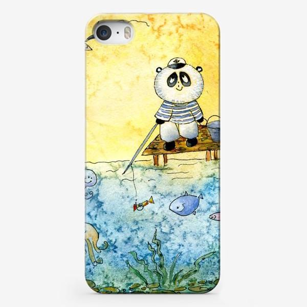 """Чехол iPhone «Серия """"Счастливые панды"""" Рыбалка»"""