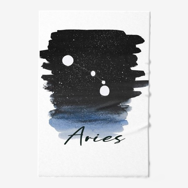 Полотенце «Созвездие Овен. Звездное небо. Акварель»