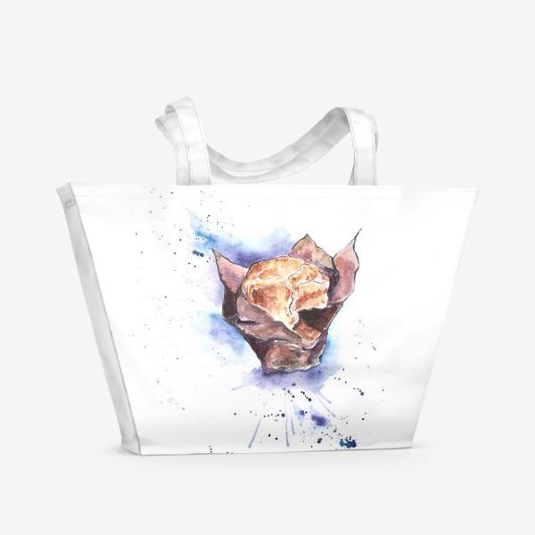 Пляжная сумка «Черничный Маффин»