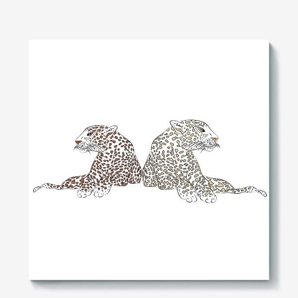 Холст «Два гепарда»
