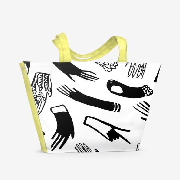 Пляжная сумка «Перчатки»