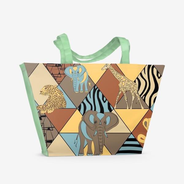 Пляжная сумка «Сафари паттерн»