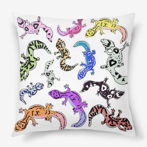 Подушка «Ящерки»