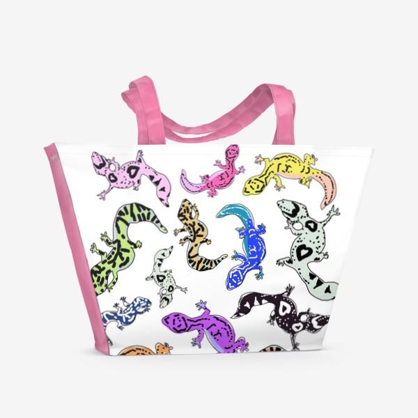 Пляжная сумка «Ящерки»