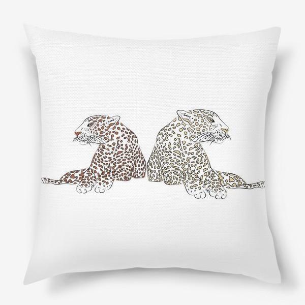 Подушка «Два гепарда»