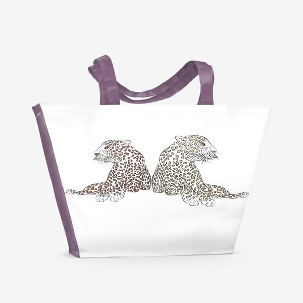 Пляжная сумка «Два гепарда»
