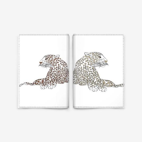 Обложка для паспорта «Два гепарда»