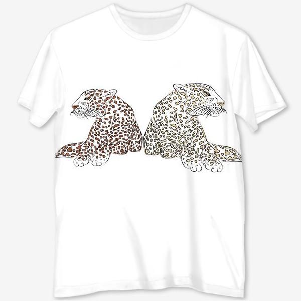 Футболка с полной запечаткой «Два гепарда»