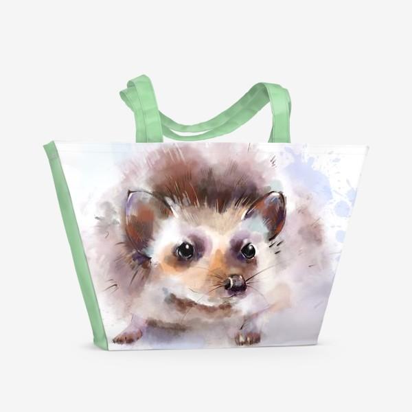 Пляжная сумка «Милый ежик»