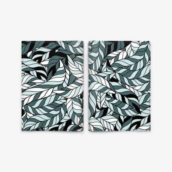 Обложка для паспорта «Мятные листья, паттерн»