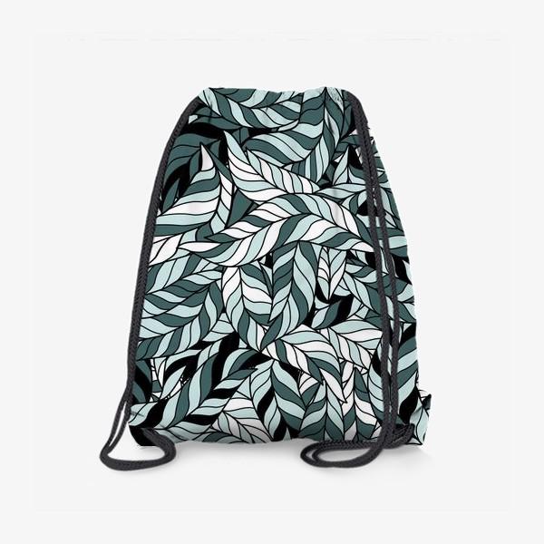 Рюкзак «Мятные листья, паттерн»