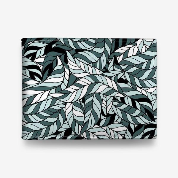 Кошелек «Мятные листья, паттерн»