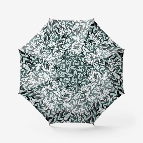 Зонт «Мятные листья, паттерн»