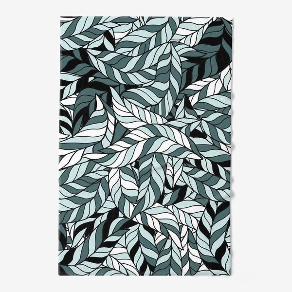 Полотенце «Мятные листья, паттерн»