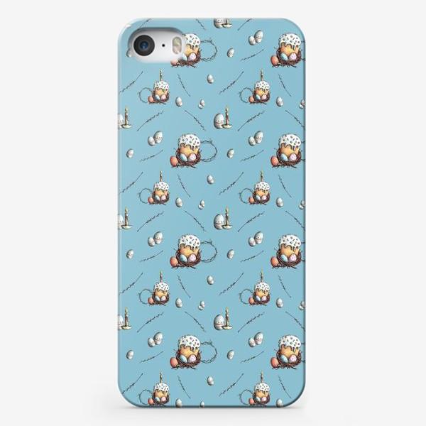 Чехол iPhone «Паттерн с куличами и яйцами»