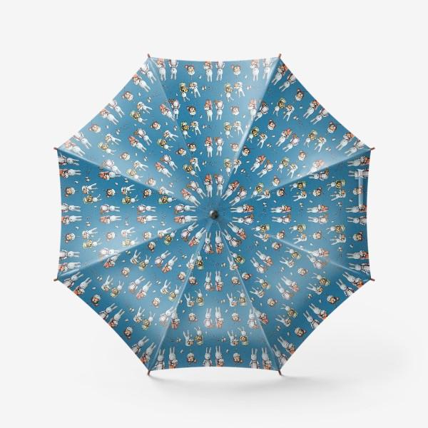 Зонт «Пасхальные зайчата с куличами»