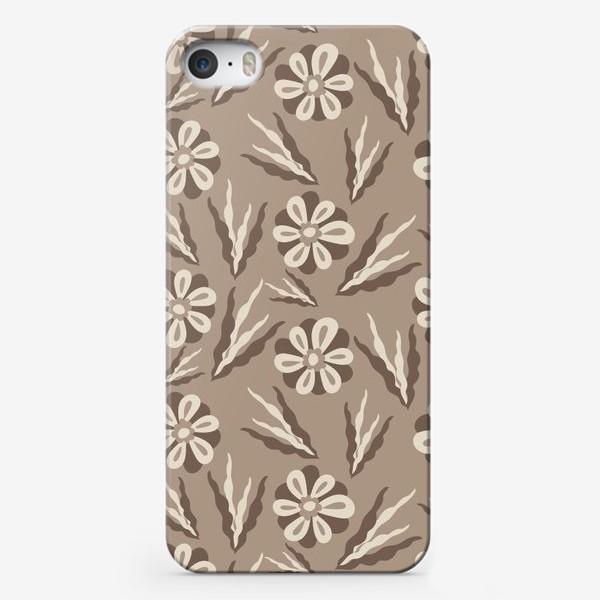 Чехол iPhone «Простые цветы в пастельных тонах»