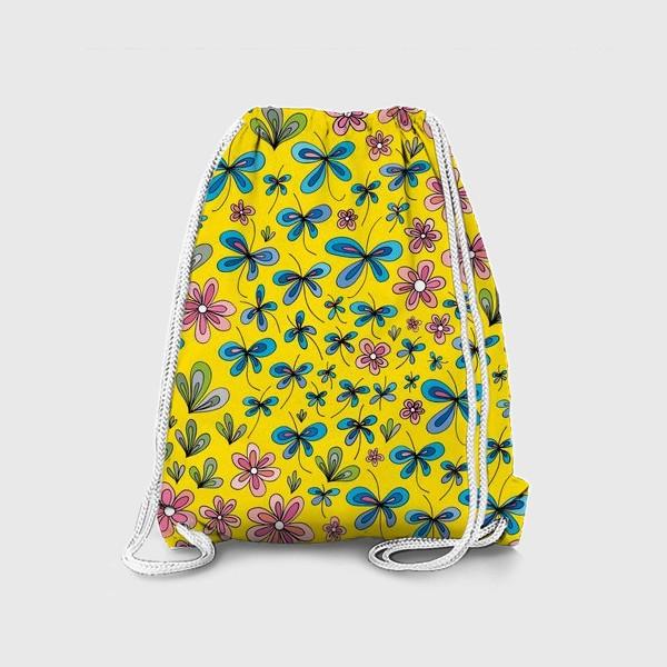 Рюкзак «Цветы и бабочки»