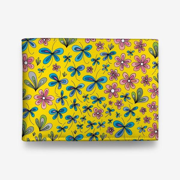 Кошелек «Цветы и бабочки»