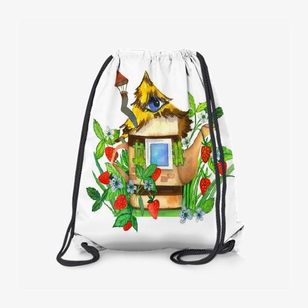 Рюкзак «клубничный домик»