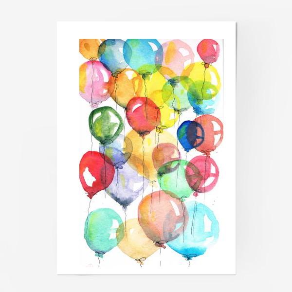Постер «шарики»