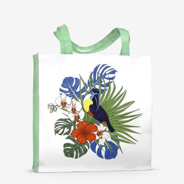 Сумка-шоппер «Тукан и тропические растения»