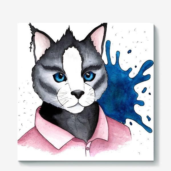 Холст «Кот на стиле»