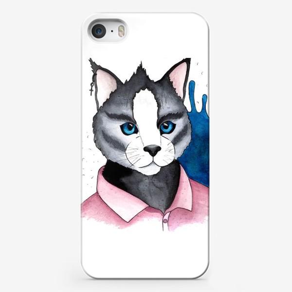 Чехол iPhone «Кот на стиле»