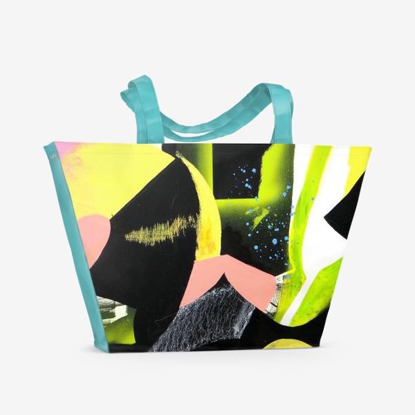 Пляжная сумка «Виниловая пластинка»