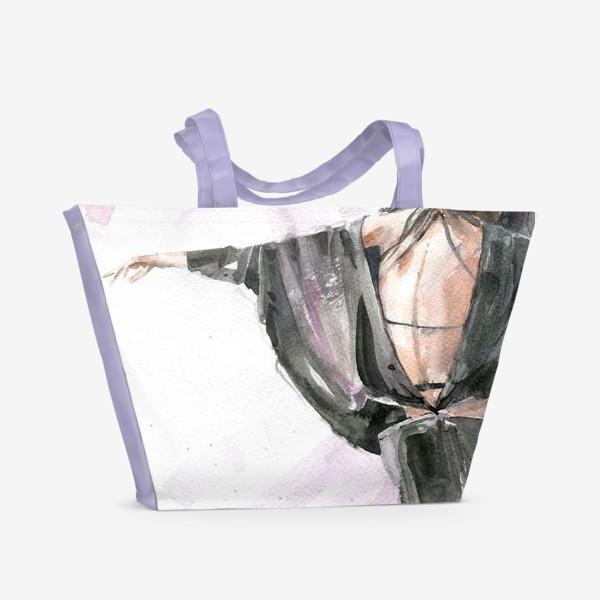 Пляжная сумка «Девушка с собачкой»