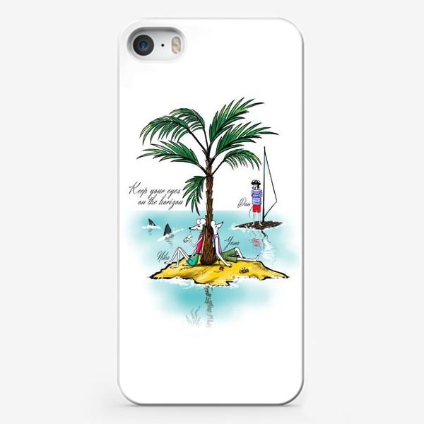 Чехол iPhone «KEEP YOUR EYES ON THE HORIZON»
