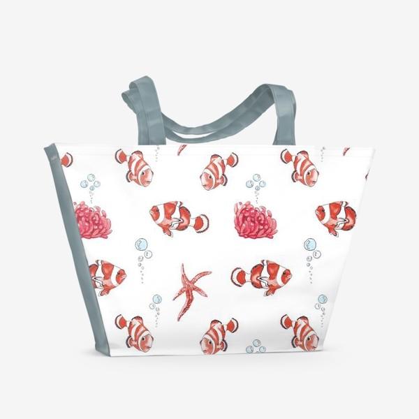 Пляжная сумка «Рыба клоун»