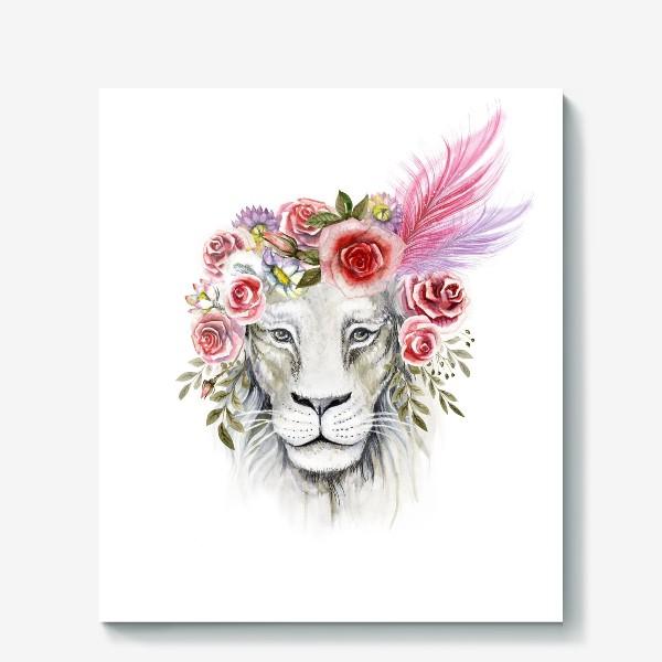 Холст «Белая львица»