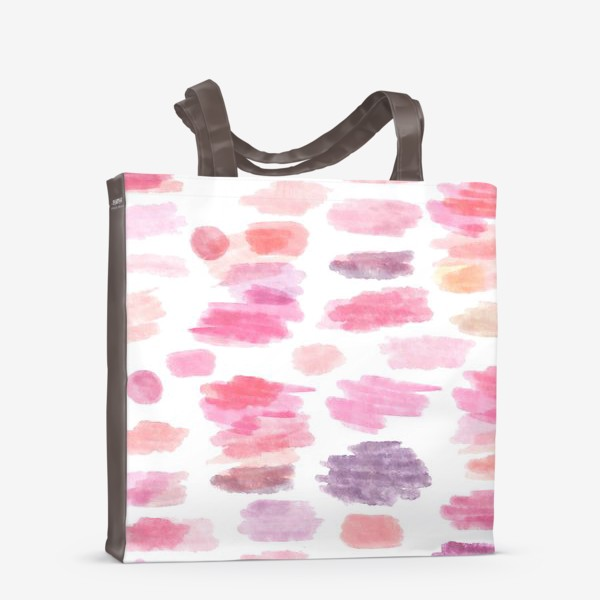 Сумка-шоппер «Pink Clouds Розовые облака Seamless Pattern Бесшовный орнамент»