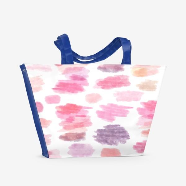 Пляжная сумка «Pink Clouds Розовые облака Seamless Pattern Бесшовный орнамент»