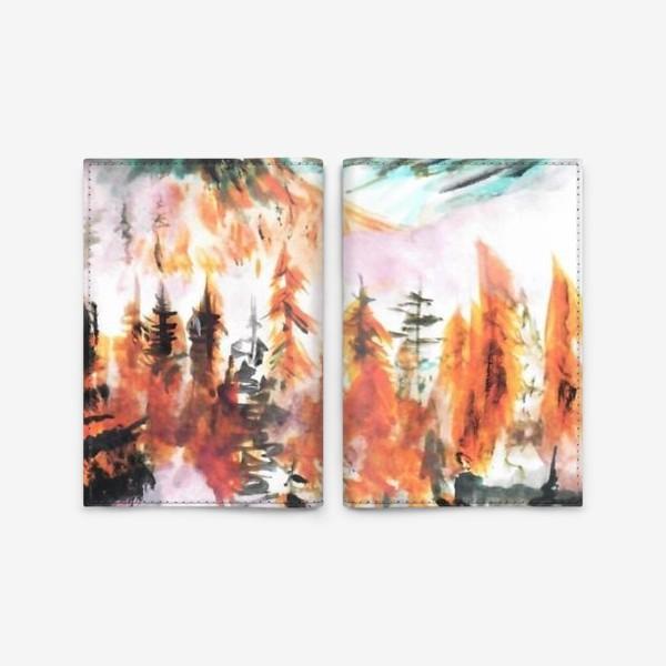Обложка для паспорта «Осенний горный пейзаж»